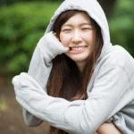 小雨ぱらつく上野公園でポートレート撮影