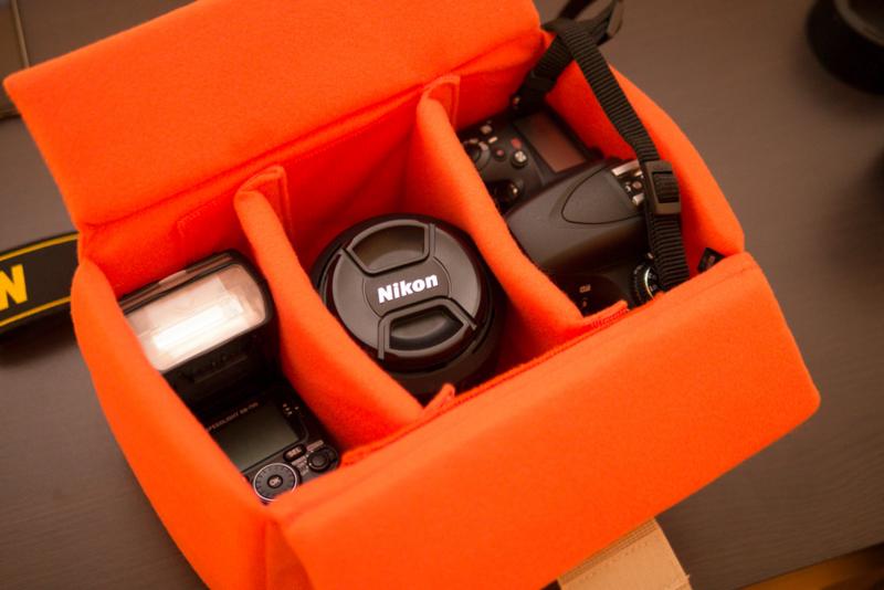 カメラの持ち運びにインナーソフトボックス