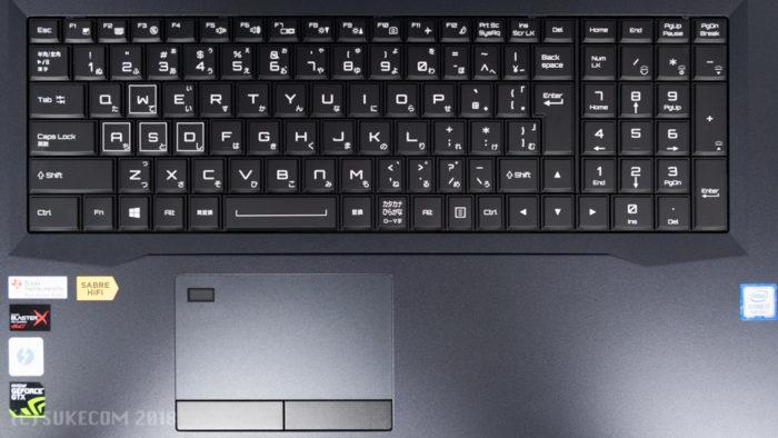 DAIV-NG7620M1-M2SH5-RAWのキーボード