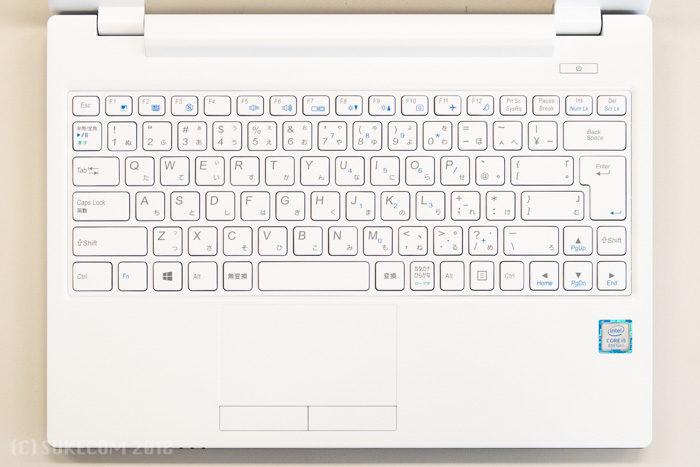 シンプルなキーボード配列